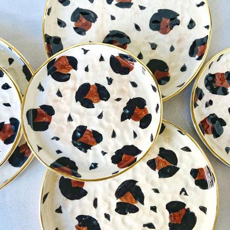 Ceramic Leopard Plates